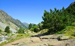 Paesaggio della montagna in parco nazionale Pirenei france fotografia stock libera da diritti