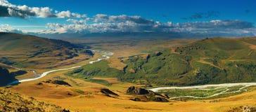 Paesaggio della montagna, plateau Ukok Immagine Stock Libera da Diritti