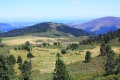 Paesaggio della montagna in Pyrenees Fotografie Stock