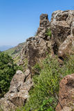 Paesaggio della montagna, riserva naturale di Gamla in Israele Fotografia Stock