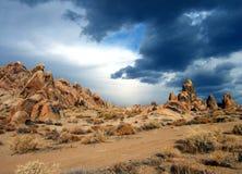 Paesaggio della montagna rocciosa Fotografia Stock