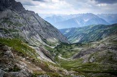 Paesaggio della montagna rocciosa delle alpi di Allgau Fotografia Stock Libera da Diritti