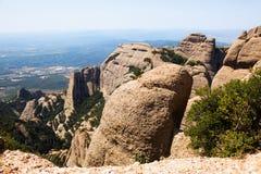 Paesaggio della montagna rocciosa in Montserrat Immagine Stock Libera da Diritti