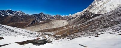 Paesaggio della montagna in Sagarmatha, Nepal Immagini Stock