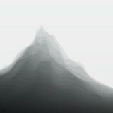 Paesaggio della montagna Siluette di vettore di illustrazione vettoriale