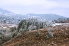 Paesaggio della montagna sotto il cielo di mattina Fotografia Stock Libera da Diritti
