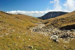 Paesaggio della montagna sul plateau della montagna Fotografie Stock