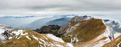 Paesaggio della montagna Supporto Pilatus, Svizzera Immagine Stock Libera da Diritti