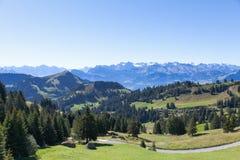 Paesaggio della montagna in Svizzera Immagine Stock Libera da Diritti