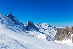 Paesaggio della montagna in Tignes, Francia Fotografia Stock
