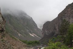 Paesaggio della montagna Viaggio al nuovo mondo perfetto fotografia stock