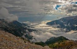 Paesaggio della montagna vicino a Olympus, Grecia Fotografie Stock Libere da Diritti