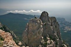 Paesaggio della montagna. Vista da Ai-Pétri Fotografia Stock Libera da Diritti