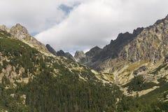 Paesaggio della montagna Vista panoramica di alto Tatras Fotografia Stock Libera da Diritti