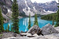 Paesaggio della moraine del lago Immagini Stock Libere da Diritti
