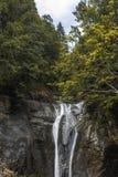 Paesaggio della natura della cascata di vista del paesaggio della Svizzera fotografia stock libera da diritti