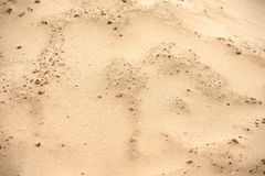 Paesaggio della natura con il lotto della fine marrone della sabbia del deserto su Fotografia Stock Libera da Diritti