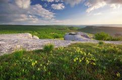 Paesaggio della natura della montagna Fotografie Stock