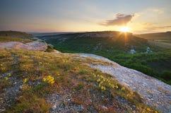 Paesaggio della natura della montagna Immagini Stock Libere da Diritti