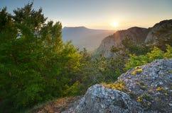 Paesaggio della natura della montagna Immagini Stock