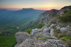 Paesaggio della natura della montagna Fotografia Stock