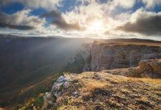 Paesaggio della natura di autunno della montagna Fotografia Stock Libera da Diritti