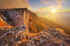 Paesaggio della natura di autunno della montagna Fotografie Stock Libere da Diritti