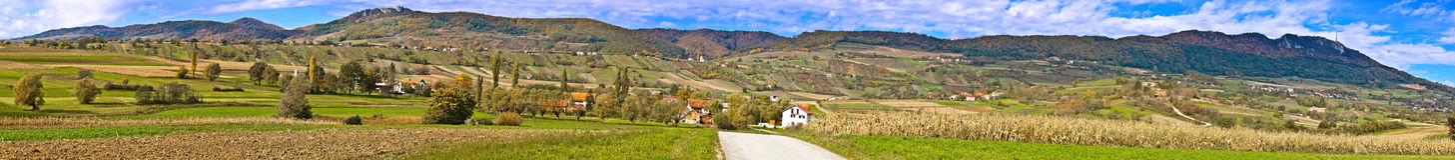 Paesaggio della natura di autunno della montagna di Kalnik Fotografia Stock Libera da Diritti
