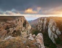 Paesaggio della natura di autunno della montagna Immagine Stock Libera da Diritti