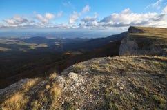 Paesaggio della natura di autunno della montagna Immagine Stock