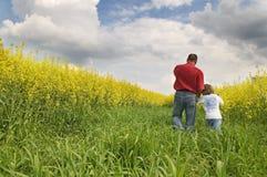 Paesaggio della natura di estate con la gente. Immagine Stock Libera da Diritti