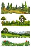 Paesaggio della natura, insieme di vettore illustrazione vettoriale