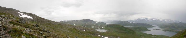 Paesaggio della natura della montagna di estate di Morway Fotografia Stock Libera da Diritti