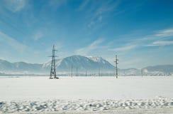 Paesaggio della natura sparato nell'inverno Fotografia Stock Libera da Diritti