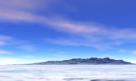 Paesaggio della neve Immagini Stock Libere da Diritti