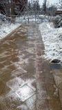 Paesaggio della neve-covred Fotografie Stock
