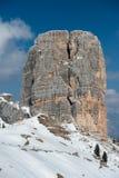 Paesaggio della neve della montagna delle dolomia nell'inverno Immagini Stock Libere da Diritti
