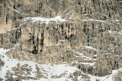 Paesaggio della neve della montagna delle dolomia nell'inverno Immagine Stock Libera da Diritti