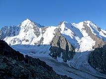 Paesaggio della neve di Mountainian Immagine Stock Libera da Diritti