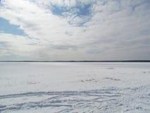 Paesaggio della neve nell'inverno Fotografie Stock Libere da Diritti