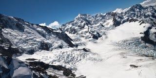 Paesaggio della neve - Nuova Zelanda Fotografia Stock