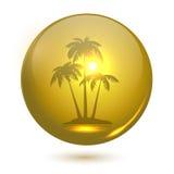 Paesaggio della palma royalty illustrazione gratis