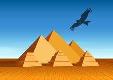 Paesaggio della piramide Immagine Stock
