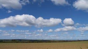 Paesaggio della primavera & cielo, Cornovaglia, Regno Unito Fotografia Stock Libera da Diritti