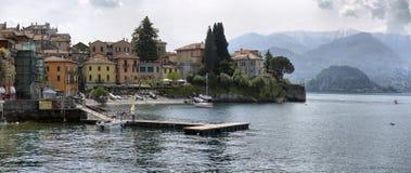 Paesaggio della primavera sul lago Como, Immagine Stock
