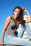 paesaggio della ragazza urbano Fotografia Stock Libera da Diritti