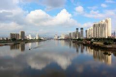 Paesaggio della riva del fiume Fotografia Stock Libera da Diritti