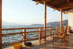 Paesaggio della riva del lago Immagine Stock