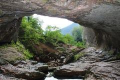 Paesaggio della roccia nel Giura, Francia fotografia stock libera da diritti