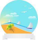 Paesaggio della sabbia del cerchio Fotografia Stock Libera da Diritti